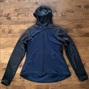 NikeDRI-FIT navy & black lightweight hooded jacket